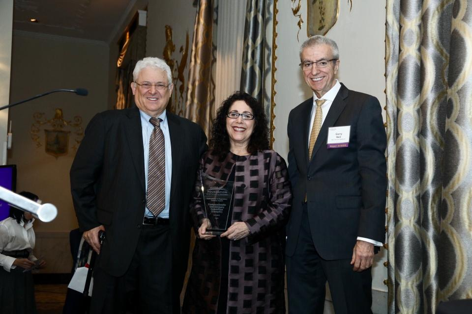 Honorees Arthur L. Caplan, PhD and Joanne Waldstreicher, MD, and Garry Neil, MD, Foundation Board Member
